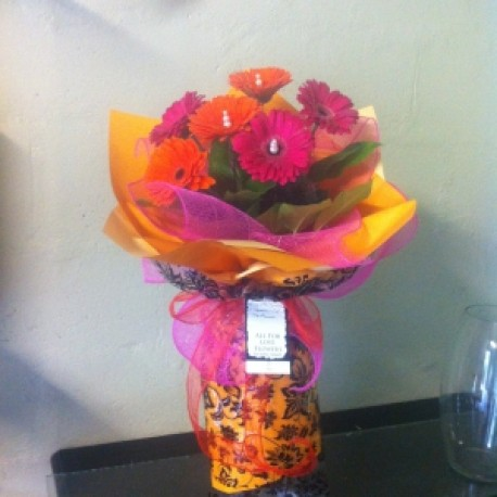 Pink and Orange Gerberas